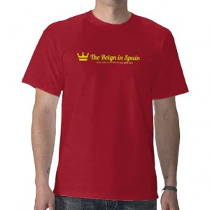 The Reign in Spain t-shirt with crown